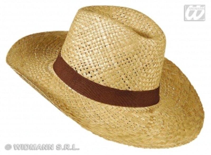 Safari klobouk slamák hnědá stuha - klobouky 26477c7b94