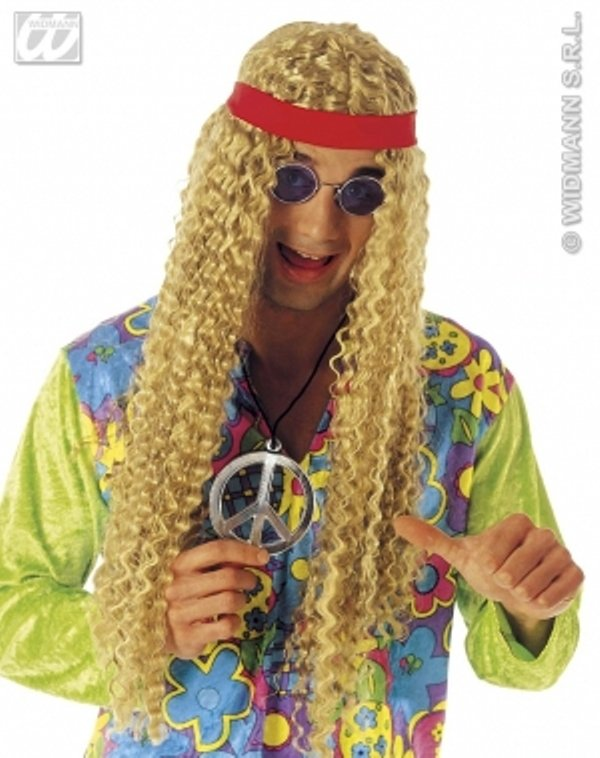 Paruka hippies kost my a dopl ky na karneval p rty for Salon hippie