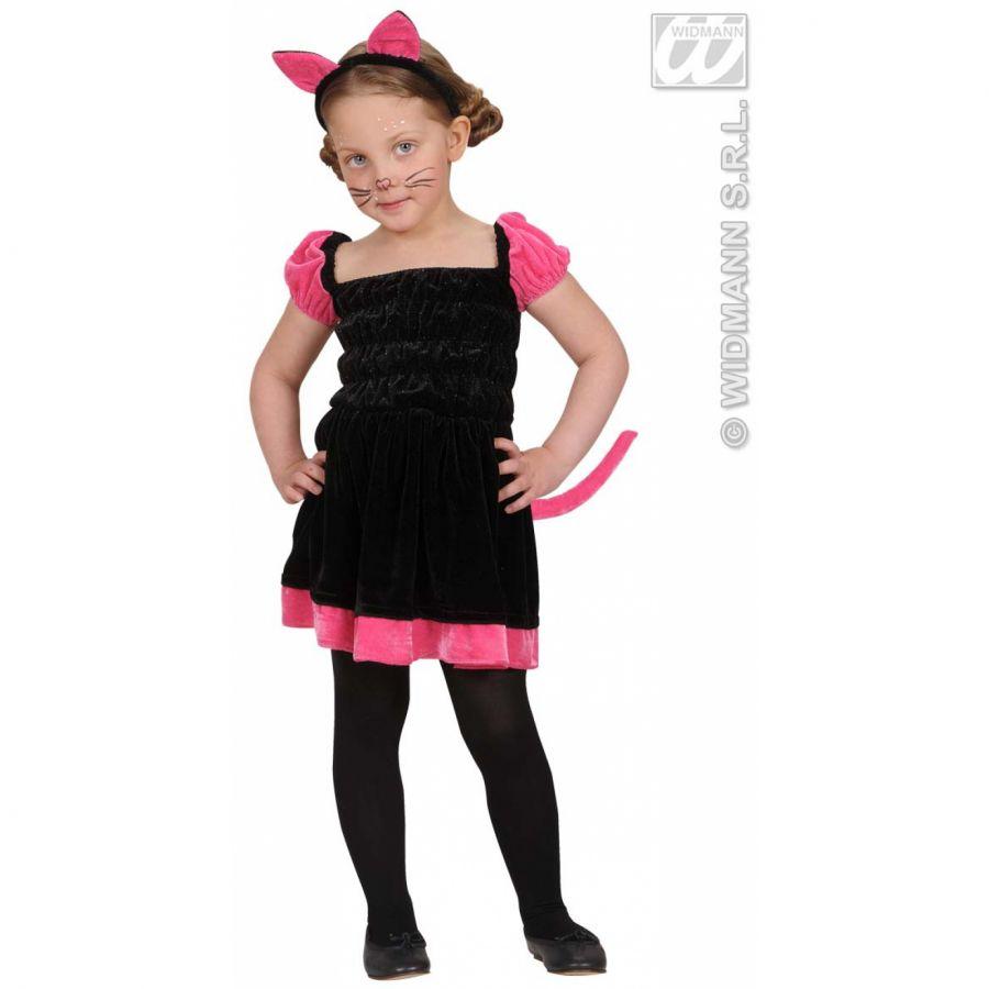 Dětský karnevalový kostým pro děti ve věku 1-2 roky. Kostým se skládá z  šatiček a růžových oušek na sponě. bb613316756
