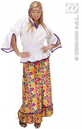 99e9dfff9428 Kostým hippiesačka samet sukně M - kostýmy a doplňky na karneval ...
